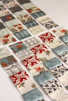 Serious quick and easy strip quilting idea. This is nifty!