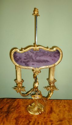 FEINE BOUILLOTTE LAMPE LOUIS XV 19.JH. Barock Tischlampe Leuchter Kerzenständer