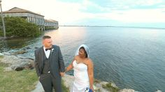 Shot by drone at Rusty Pelican by Tampa Wedding Photographers Celebrations of Tampa Bay http://celebrationsoftampabay.com/