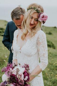 Patchouli lace wedding dress from Romantique by Claire Pettibone #ClaireBride https://romantique.clairepettibone.com/collections/bohemian-rhapsody-boho-wedding-dresses/products/patchouli