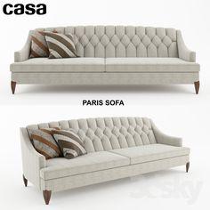 Casa Paris Sofa Sofa Set Designs, Latest Sofa Designs, Modern Sofa Designs, Capitone Sofa, Sofa Drawing, Sofa And Chair Company, Living Room Sofa Design, Upholstered Sofa, Sofa Sofa