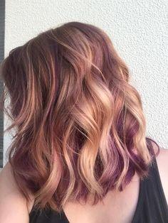 Rose Gold & Purple Hair - by Brandi Grant
