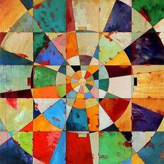 DesertRose,;,Mandala cubismo,;,