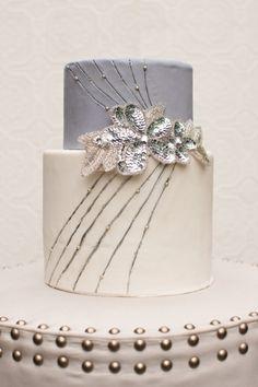 [ Metallic Wedding Decor Wedding Trends 27 ] - Best Free Home Design Idea & Inspiration Gorgeous Cakes, Pretty Cakes, Amazing Cakes, Metallic Cake, Silver Cake, Sequin Cake, Cupcake Photos, Cupcake Couture, Fondant Wedding Cakes