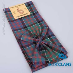Pure wool mini sash in MacDonald of Clanranald Ancient tartan