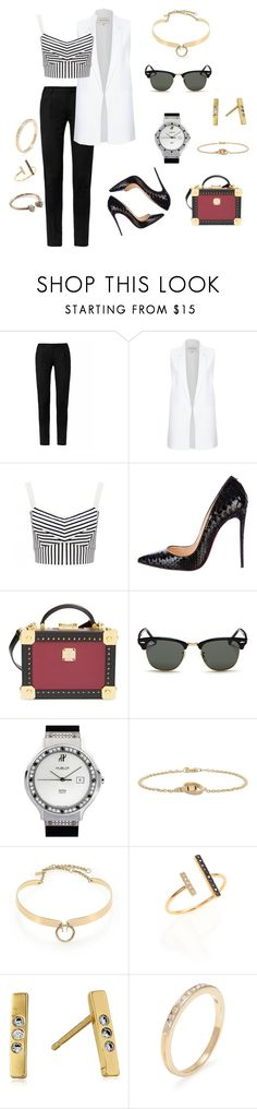 """""""Untitled #110"""" by tebs-maleke ❤ liked on Polyvore featuring Yves Saint Laurent, River Island, Forever New, Christian Louboutin, MCM, Ray-Ban, Hublot, Cartier, Alexis Bittar and ZoÃ« Chicco"""