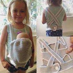 FREE PATTERN crochet baby doll carrier by Corn on the Monkey