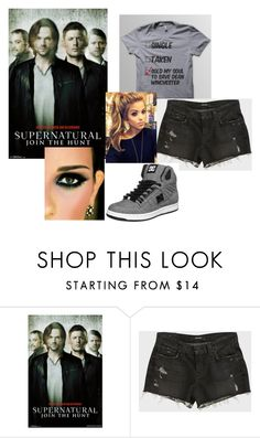 """""""Sold My Soul To Save Dean Winchester"""" by backwoodsbeautyqueen94 ❤ liked on Polyvore featuring J Brand and DC Shoes"""