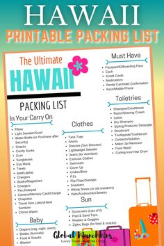 The Ultimate Hawaii Packing List - Your guide for what to pack for the Aloha State   10 things you probably never thought you needed. #hawaii #packinglist #aloha #hawaiitravel #traveltips #packingtips #travellight Best Family Vacations, Great Vacations, Family Travel, Hawaii Vacation, Hawaii Travel, Vacation Ideas, Shaving Lotion, Printable Packing List, Love My Family