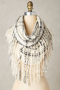 Fringed Infinity Scarf #anthropologie