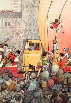 James and the Giant Peach - written by Roald Dahl, illustrated by Nancy Ekholm Burkert (1961).