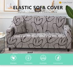 Sofa Cover Elastic for Living Room Spandex Corner Couch Slipcover Ship Teal Painted Furniture, Slipcovers, Couch Slipcover, Corner Couch, Diy Furniture Couch, Three Seater Sofa, Sofa Covers, Home Living Room, Trailer Remodel