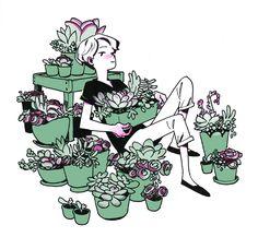 51 Ideas Plants Illustration Link For 2019 Art And Illustration, Illustrations, Kunst Inspo, Art Inspo, Tumblr Drawings, Art Drawings, Pretty Art, Cute Art, Guache