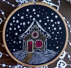 kit de broderie traditionnelle - Winter night - Broderie pour débutant by Fileusedetoiles on Etsy