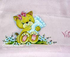 pintura de gatinha com travesseiro