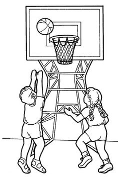 Sport Coloring Page For Kids