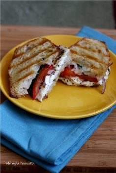 Mango & Tomato: Calphalon Panini Grill: Caprese Panini