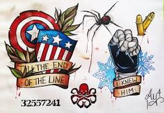 Image result for winter soldier tattoo