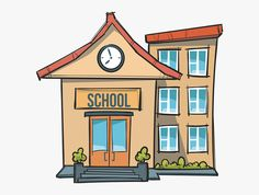 School Clipart Images In Collection Page Transparent School Building Cartoon School Clipart is a free transpar School clipart School cartoon Cartoon building