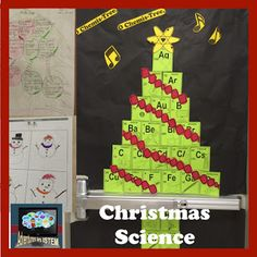 Bring christmas into your science classroom with these great tips and activities: Door themes, Periodic menu choice with a holiday twist, edible genetic activies