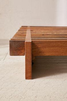 Sarah Slatted Platform Bed - Bed and Bedcover Bed Frame Design, Diy Bed Frame, Bed Design, Simple Wood Bed Frame, Bed Frames, Chair Design, Lit Plate-forme Diy, Furniture Sale, Furniture Design