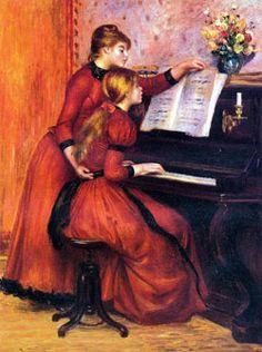 Auguste Renoir : La leçon de piano
