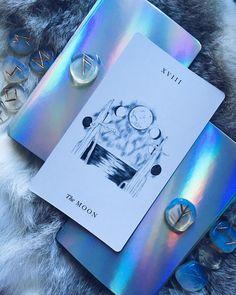 Luminous Spirit Tarot, The Moon, moonstone~Rune stones