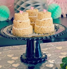 Mimic the naked cake trend with mini Rice Krispies cakes