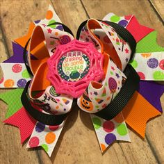 One of a kind! Stirring up some trouble hairbow made with designer ribbon!! Get…