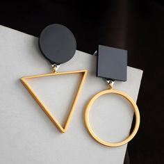 Cheap Stud Earrings, Buy Directly from China Suppliers: Irregular Round Triangle Stud Earrings for Women Geometric Simple Ear Studs Jew