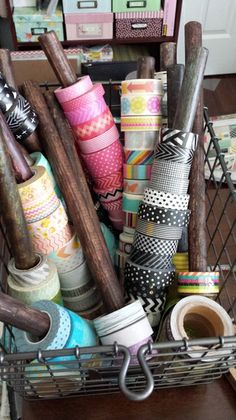 Storage for Over 100 Washi Tapes - Two Peas in a Bucket
