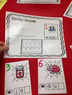 Spooky Sounds - write or stamp words - ending sounds