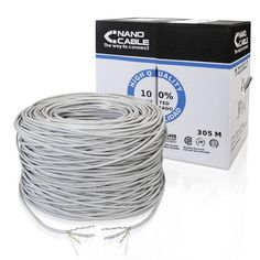 UTP Category 5e Rigid Network Cable NANOCABLE ANEAHE0429 10.20.1704-SLD 305 m Grey