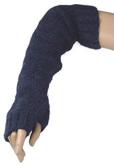 Annlina is a fingerless glove/gauntlet that extends up over the elbow.