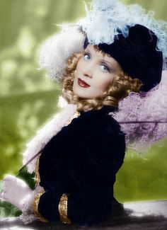 Great color photo of Marlene Dietrich