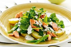 We're fans of anything potato, and this salad's tender slices go perfectly with the salmon, snow peas and dressing.