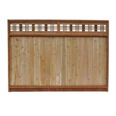 Cedar Lattice Top Fence Panels