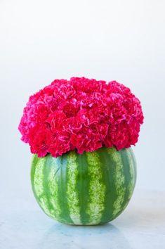 DIY Watermelon Flower Centerpiece by /cydconverse/