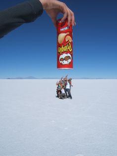 The salt flats, Bolivia