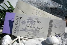 Wedding Invitations - Boarding Pass Style