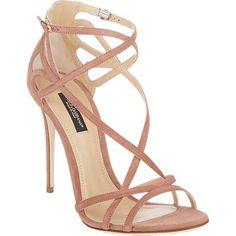 Dolce & Gabbana Criss Cross Strap Sandals as seen on Emily Ratajkowski