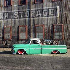 """Hotrodjunkie, spiriteddrivemagazine:   """"@g_g_allin 's 66 Chevy..."""