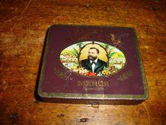 Vintage Sumatra Dannemann Menor Speciale Cigarette Tin Tobacco