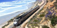 Pacific Coast train  **See This Gorgeous Stretch of Pacific Coast by Train