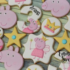 Peppa Pig is usually a Peppa Pig Cookie, Peppa Pig Birthday Cake, Birthday Cookies, Tortas Peppa Pig, Cumple Peppa Pig, Pig Cookies, Cookies For Kids, Third Birthday, 3rd Birthday Parties