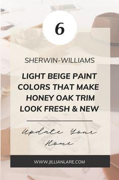 Off White Paint Colors, Off White Paints, Room Paint Colors, Paint Colors For Living Room, Paint Colors For Home, Neutral Paint, Best Wall Paint, Best White Paint, Honey Oak Cabinets