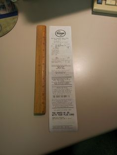 LONG sales receipts. This one was more than a foot long for only 2 items!!!