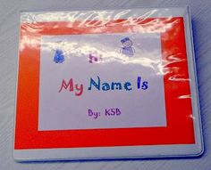 After reading some stories about getting to know new friends and the new school year, creating a name book like this is a great way to get the kids to know their new friends!