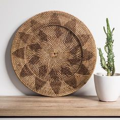 Rattan Wall Hanging - Natural – Little Additions Tribal Feather, Kitchen Benches, Natural Texture, Plates On Wall, Natural Materials, Earthy, Rattan, Decorative Bowls, Weaving