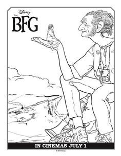 BFG Coloring Pages Giant Coloring Page